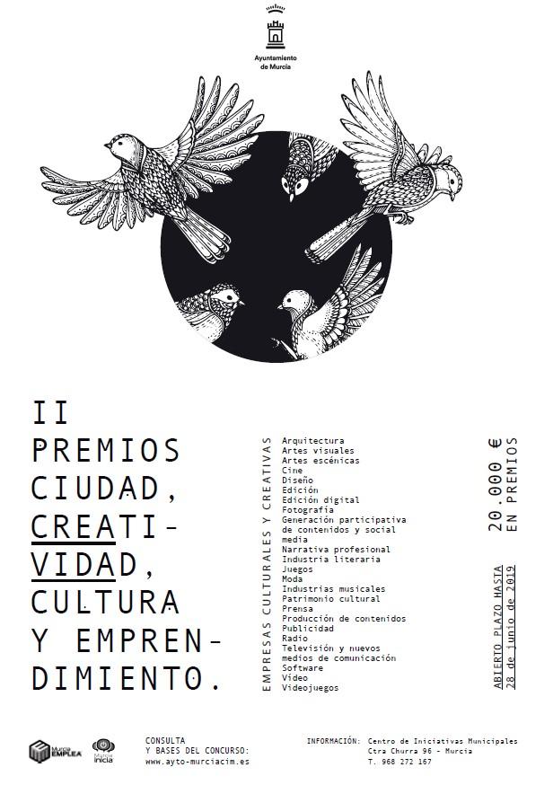 II PREMIOS CIUDAD, CREATIVIDAD, CULTURA Y EMPRENDIMIENTO....