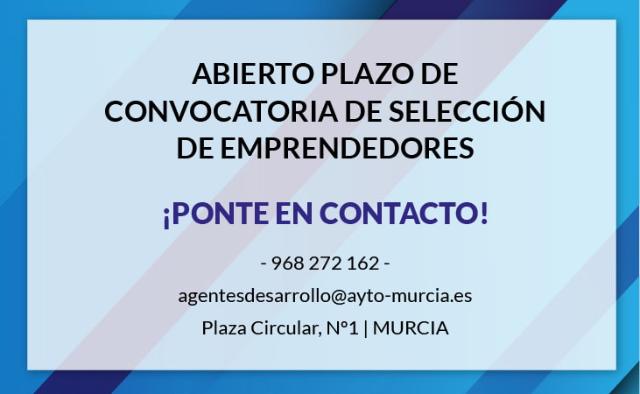 CONVOCATORIA SELECCIÓN EMPRENDEDORES PARA ÁREA COMERCIAL EMPRENDEDORA...