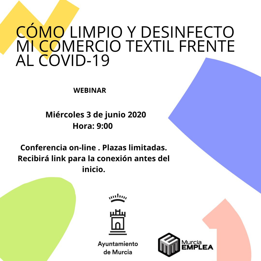 WEBINAR: CÓMO LIMPIO Y DESINFECTO MI COMERCIO TEXTIL FRENTE AL COVID-19