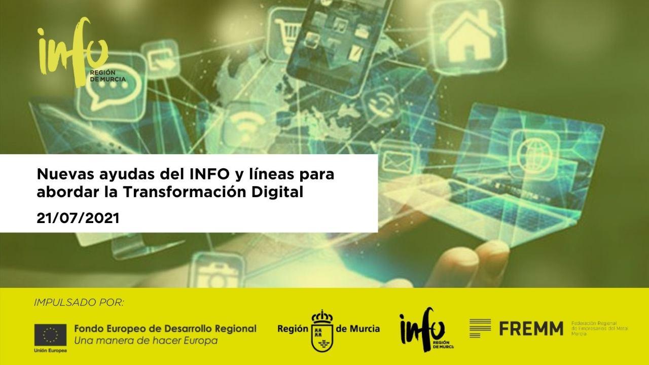 Jornada virtual de presentación de las nuevas ayudas del INFO y líneas para abordar la Transformación Digital