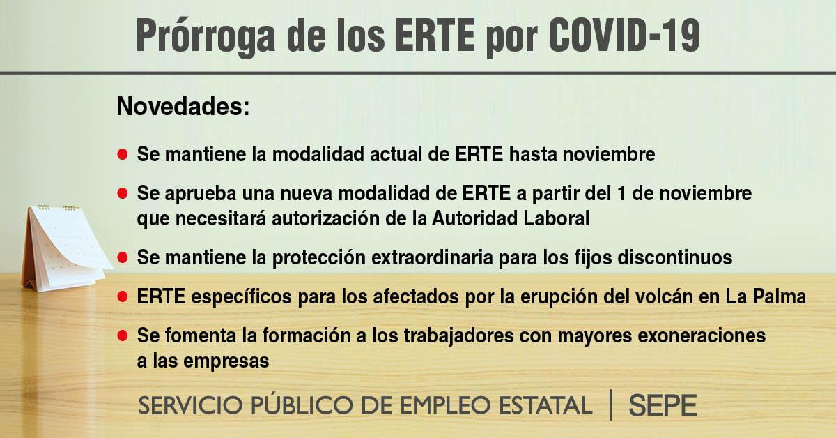 Nueva prórroga de los ERTE por COVID-19