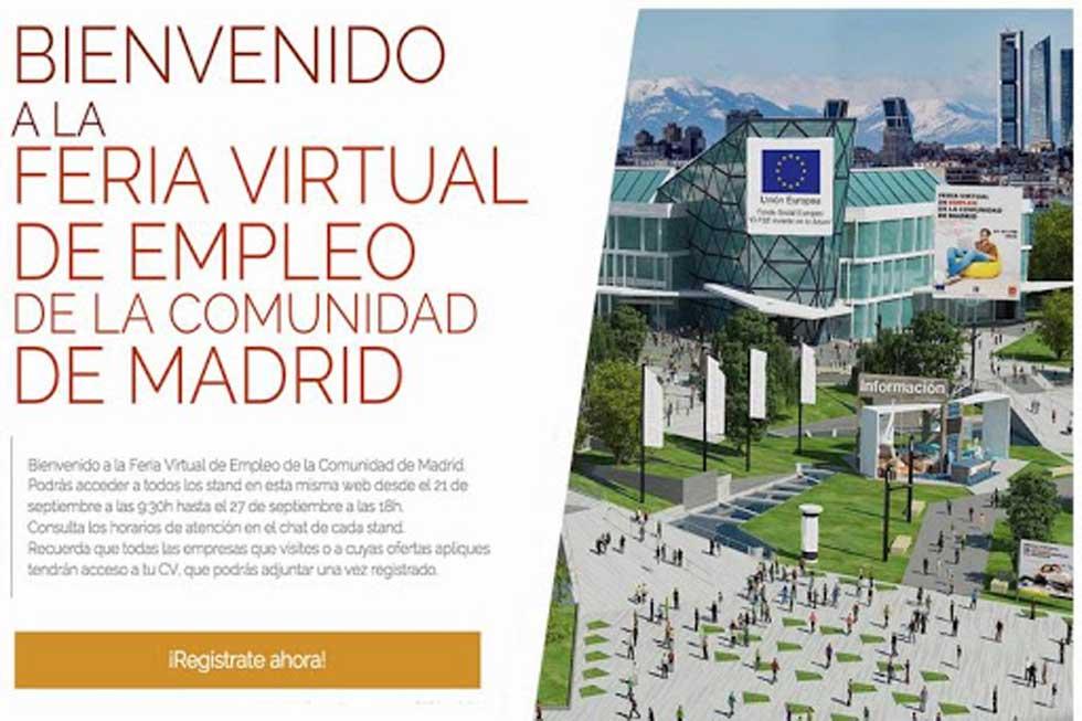 I FERIA VIRTUAL DE EMPLEO DE LA COMUNIDAD DE MADRID