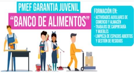 CALIFICACIONES DE LA PRUEBA TEÓRICA Y VALORACION DEL DE ALUMNADO-TRABAJADOR  DEL PROYECTO PMEF-GJ (BANCO DE ALIMENTOS)