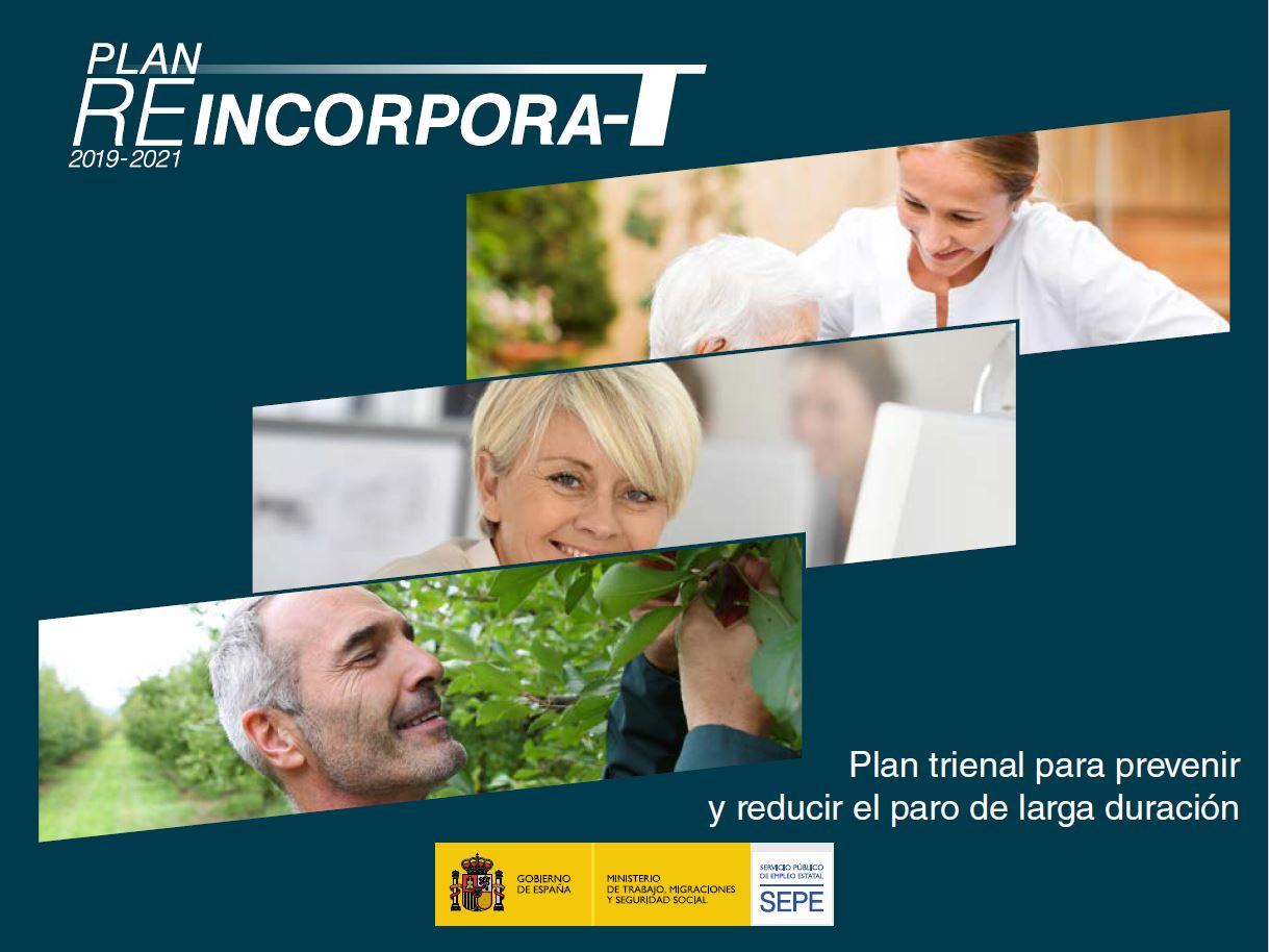 PUBLICACIÓN EN BOE DE REINCORPORA-T: PLAN TRIENAL PARA PREVENIR Y REDUCIR EL PARO DE LARGA DURACIÓN.