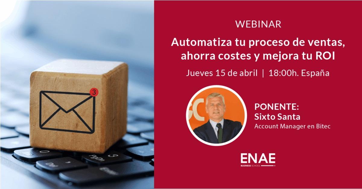 Webinar: Automatiza tu proceso de ventas, ahorra costes y mejora tu ROI