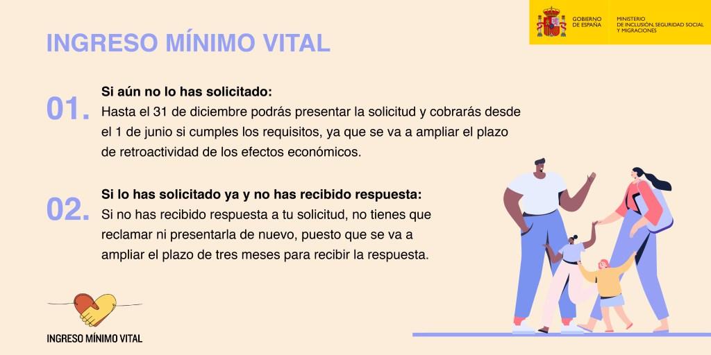 IMV: AMPLIACIÓN DEL PLAZO DE RETROACTIVIDAD Y PARA RECIBIR UNA RESPUESTA