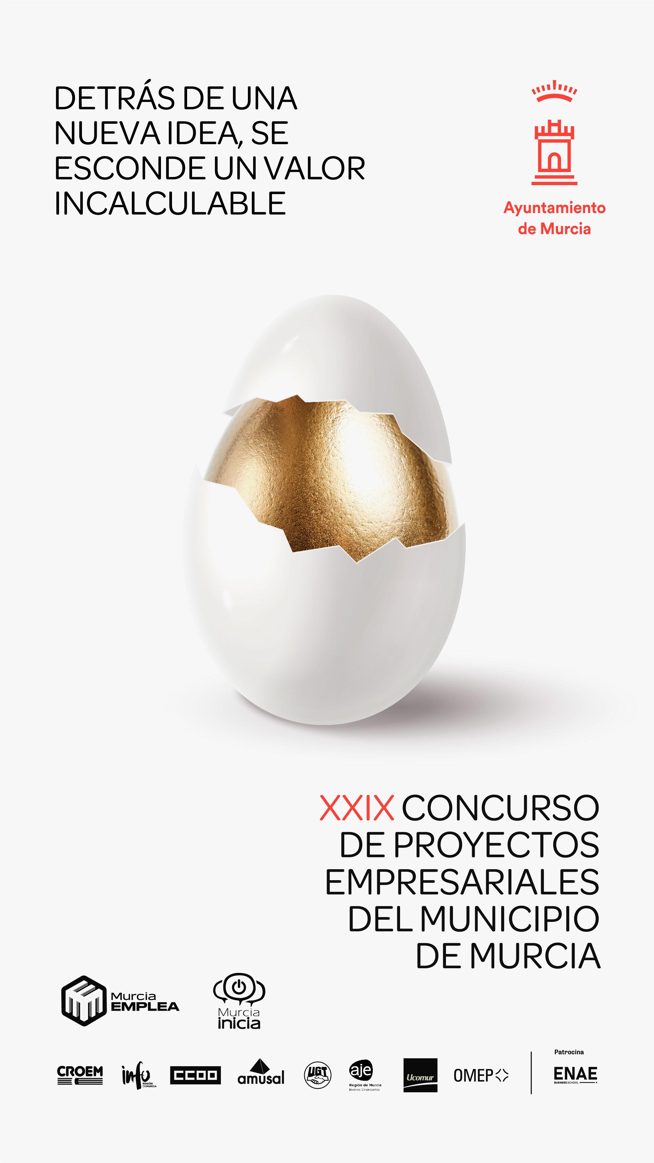EL XXIX CONCURSO DE PROYECTOS EMPRESARIALES DEL AYUNTAMIENTO DE MURCIA ENTRA EN LA FASE DE ANÁLISIS DE PROYECTOS