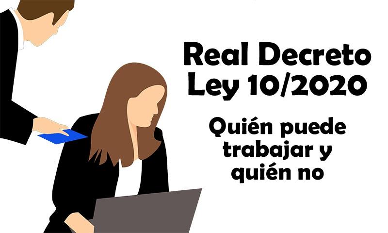 LISTA DE ACTIVIDADES ESENCIALES - ANEXO REAL DECRETO LEY 10/2020