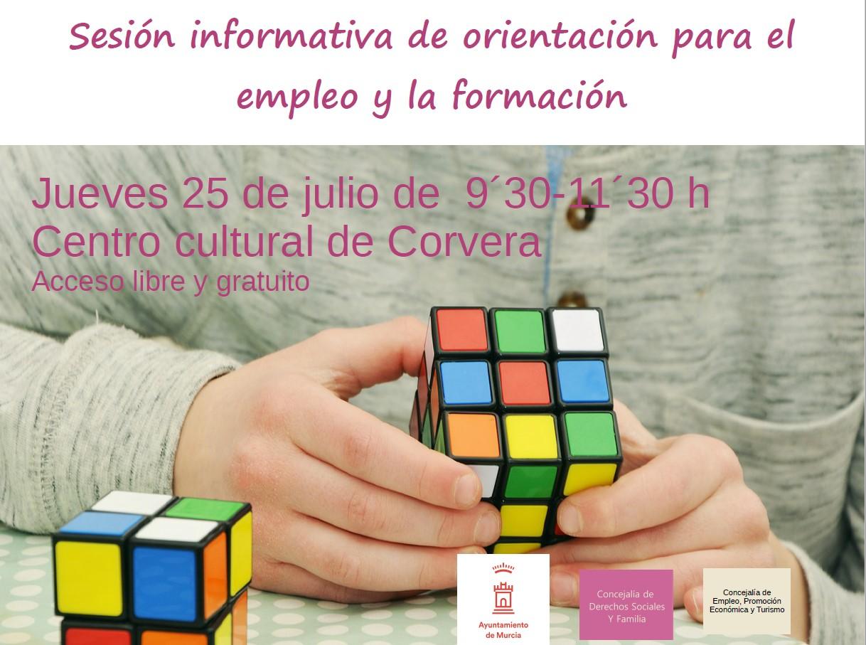 Sesión informativa de orientación para el empleo y la formación para personas desempleadas del Campo de Murcia